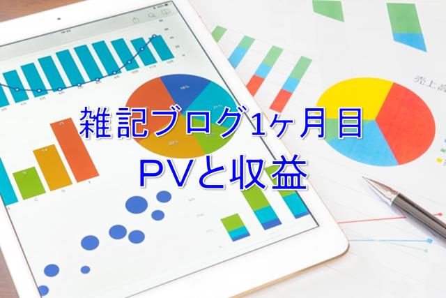 ブログ1ヶ月目PVと収益