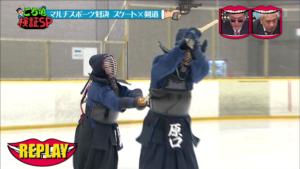 スケート×剣道1