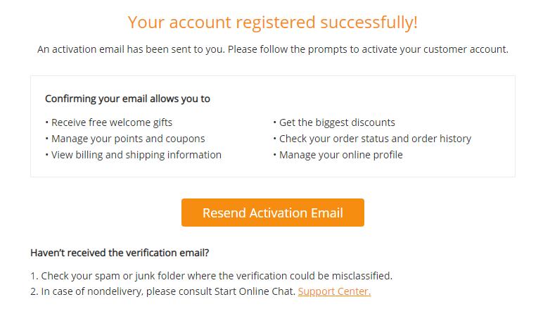 GearBest登録完了