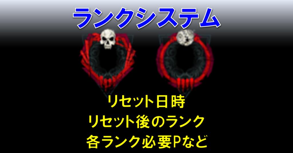【Dead by Daylight・DbD】ランクシステムについて