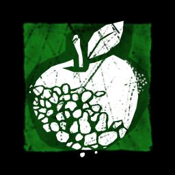 灰色のりんご