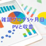 雑記ブログ開設5ヶ月目PV(アクセス数)と収益