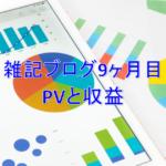 雑記ブログ開設9ヶ月目PV(アクセス数)と収益