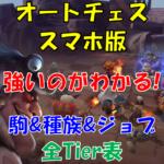 【スマホ版オートチェス攻略】駒&種族&ジョブTier表